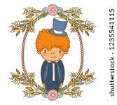 fiance male cute cartoon | Shutterstock .eps vector #1235541115