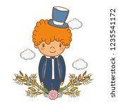 fiance male cute cartoon | Shutterstock .eps vector #1235541172