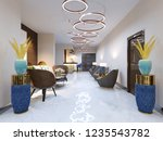 a modern reception area with... | Shutterstock . vector #1235543782