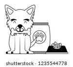 domestic dog with food | Shutterstock .eps vector #1235544778