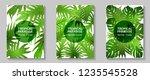 tropical paradise leaves vector ... | Shutterstock .eps vector #1235545528