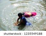 kolkata  india 16 january 2018  ... | Shutterstock . vector #1235549188