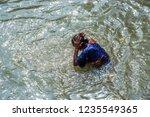 kolkata  india 16 january 2018  ... | Shutterstock . vector #1235549365