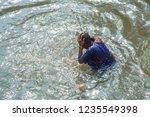kolkata  india 16 january 2018  ... | Shutterstock . vector #1235549398