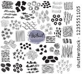 set of hand drawn design... | Shutterstock .eps vector #1235551105