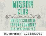 font script typeface vector... | Shutterstock .eps vector #1235553082