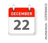 december 22 date visible on a... | Shutterstock .eps vector #1235560612