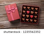 valentines day with heart... | Shutterstock . vector #1235562352