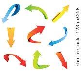 arrow set on white background | Shutterstock .eps vector #123556258