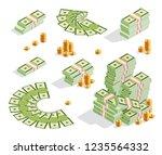 set a various kind of money....   Shutterstock .eps vector #1235564332
