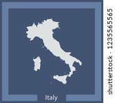 vector map of italy | Shutterstock .eps vector #1235565565