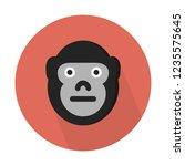 gorilla  herbivorous ape  | Shutterstock .eps vector #1235575645