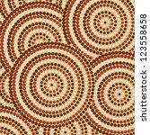 abstract aboriginal dot... | Shutterstock .eps vector #123558658