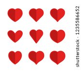 heart icons  concept of love.... | Shutterstock .eps vector #1235586652