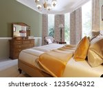 classic bedroom style with set... | Shutterstock . vector #1235604322