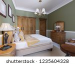 english style bedroom with a... | Shutterstock . vector #1235604328