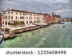 restaurants and historical... | Shutterstock . vector #1235608498