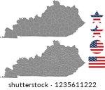 kentucky county map vector... | Shutterstock .eps vector #1235611222