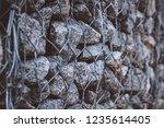 gabion protective wall | Shutterstock . vector #1235614405