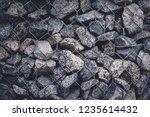gabion protective wall | Shutterstock . vector #1235614432
