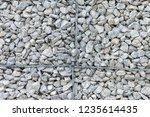 gabion protective wall | Shutterstock . vector #1235614435