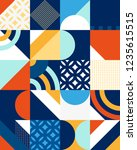 abstract geometric patten of... | Shutterstock .eps vector #1235615515