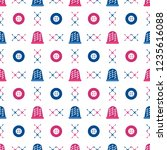 seamless pattern with thimbles... | Shutterstock .eps vector #1235616088