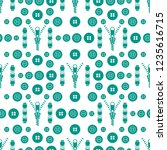 seamless pattern with zipper ... | Shutterstock .eps vector #1235616715