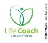 coach life logo design   vector ... | Shutterstock .eps vector #1235618872