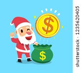 vector cartoon santa claus open ... | Shutterstock .eps vector #1235620405