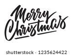 merry christmas   hand written... | Shutterstock .eps vector #1235624422