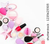 set of beauty accessory and... | Shutterstock . vector #1235625505
