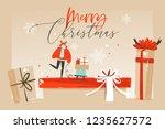 hand drawn vector abstract fun...   Shutterstock .eps vector #1235627572