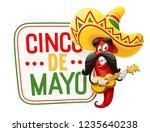 character for cinco de mayo...   Shutterstock .eps vector #1235640238