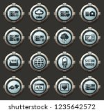 server web vector icons in the... | Shutterstock .eps vector #1235642572