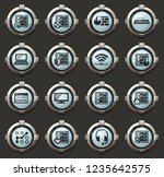 server vector icons in the... | Shutterstock .eps vector #1235642575