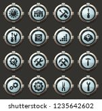 setting vector icons in the... | Shutterstock .eps vector #1235642602