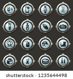 science vector icons in the... | Shutterstock .eps vector #1235644498