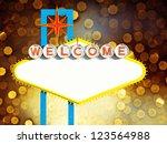 blank welcome to las vegas neon ... | Shutterstock . vector #123564988