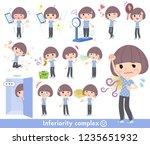 a set of women in sportswear on ... | Shutterstock .eps vector #1235651932
