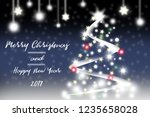merry christmas and happy new...   Shutterstock . vector #1235658028