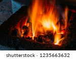 forge fire forge fire used for... | Shutterstock . vector #1235663632