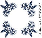 awesome jasmin flowers frame.... | Shutterstock .eps vector #1235668612