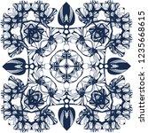 awesome jasmin flowers frame.... | Shutterstock .eps vector #1235668615