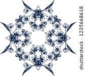 awesome jasmin flowers frame.... | Shutterstock .eps vector #1235668618