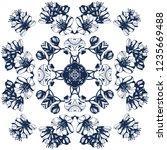 awesome jasmin flowers frame.... | Shutterstock .eps vector #1235669488