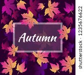 autumn banner with the... | Shutterstock .eps vector #1235676622