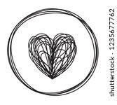 Heart In Circle Shaped Tangled...