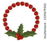christmas tree branch... | Shutterstock .eps vector #1235679202