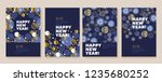 new year and christmas posters... | Shutterstock .eps vector #1235680252